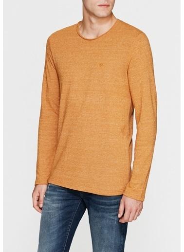 Mavi Basic Sweatshirt Sarı